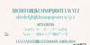 MORVA Font handwriting text