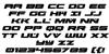 Predataur Italic Font Letters Charmap