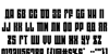 EAST-west Font Letters Charmap