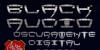 Black Audio Font text
