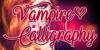 Vampire Calligraphy Font poster design
