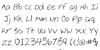 Cheyenne Hand Font Letters Charmap