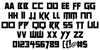 Future Worlds Font Letters Charmap