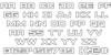 Montroc Outline Font Letters Charmap
