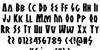 Antikythera Regular Font Letters Charmap