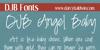 DJB Angel Baby Font handwriting text