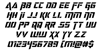 Deceptibots Italic Font Letters Charmap