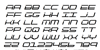 QuickTech Italic Font Letters Charmap