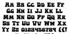 Hip Pocket Font Letters Charmap