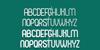 Pierce Font screenshot font