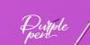Purple Pen Font handwriting design