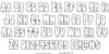 Bog Beast Outline Font Letters Charmap