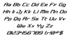 Concielian Classic Condensed Font Letters Charmap