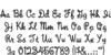 Rope MF Font Letters Charmap