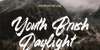 Youth Brush Daylight Font