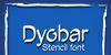 Dyobar Font poster