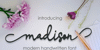 madison Font design handwriting