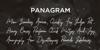 Shantty Font pangram