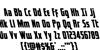 Captain Canaveral Leftalic Font Letters Charmap