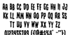 Creepy Crawlers Staggered Font Letters Charmap