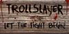 DK Trollslayer Font ground handwriting