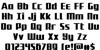 Subadai Baan Regular Font Letters Charmap