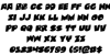 Zounderkite Rotalic Font Letters Charmap