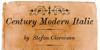 Century Modern Font text handwriting