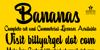 Bananas Personal Use Font book poster