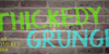 Thickedy Grunge Font handwriting painted