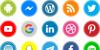 Icons Social Media 16 Font screenshot vector graphics