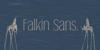 Falkin Sans PERSONAL Font water text