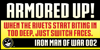 IRON MAN OF WAR Font poster text