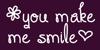 You Make Me Smile Font design text