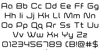 Fox on the Run Font Letters Charmap