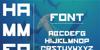 hammerhead Font screenshot design