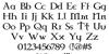 Celtic Garamond the 2nd Font Letters Charmap