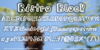 BistroBlock Font screenshot text