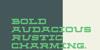 Fortitude Font screenshot design