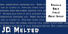 JD Melted Font typography graphic