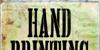 Hand Printing Press Stencil_dem Font poster grass