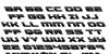Speed Phreak Leftalic Font Letters Charmap