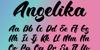 BTX-Angelika Font poster