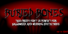 BURIED BONES Font text design