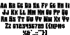 Bog Beast Expanded Font Letters Charmap