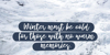 Syberic Font snow sign