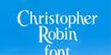 Christopher Robin Font design text