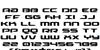 Drive Font Letters Charmap