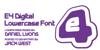 Digital Font design graphic