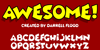 Awesome Font screenshot cartoon